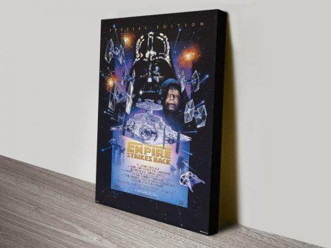 The Empire Strikes Back Retro Canvas Art