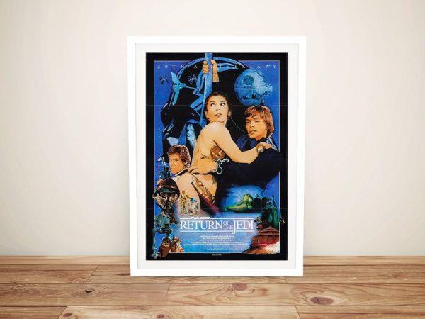 Framed Vintage Return of the Jedi Poster