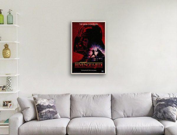 Vintage Star Wars Poster Quality Canvas Art