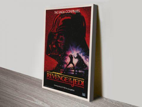 Vintage Return of the Jedi Film Poster Print