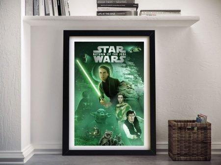 Framed Return of the Jedi Retro Poster