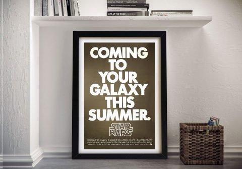 A New Hope Framed Retro Film Poster