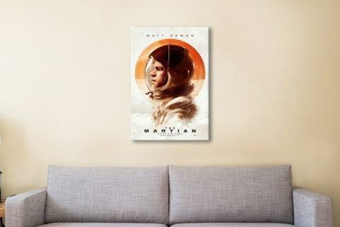 The Martian Matt Damon Film Poster AU