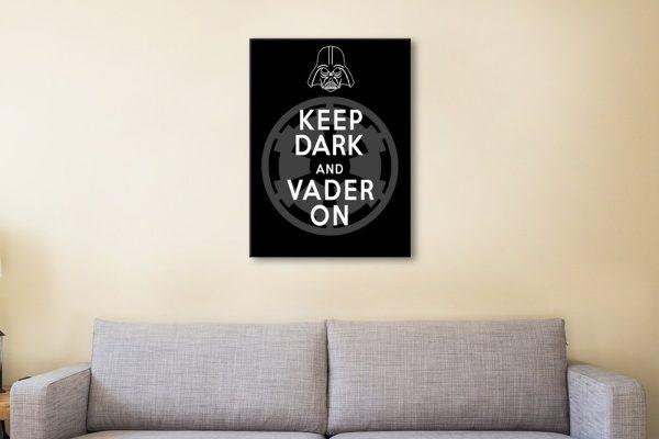 Keep Dark & Vader On Star Wars Canvas Art