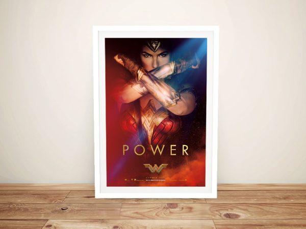Wonder Woman Framed Poster Gifts for Girls AU