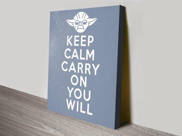 Stretched Canvas Keep Calm Yoda Wall Art