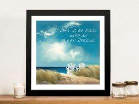 A Perfect Day Ocean Breeze Wall Art