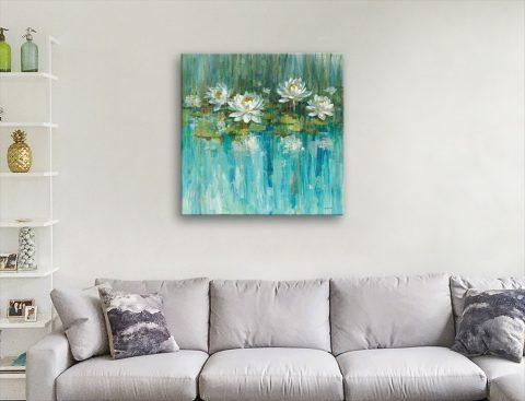 Water Lily Pond Art Unique Gift Ideas AU