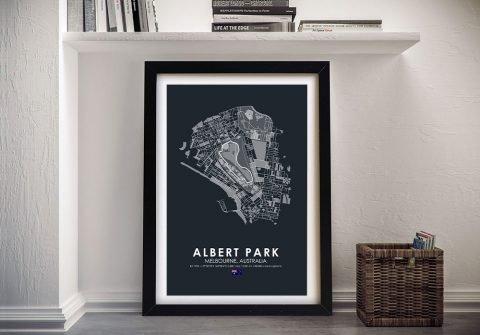 Framed Albert Park F1 Print on Canvas