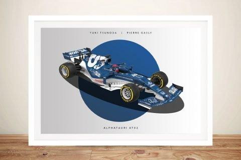 Buy a Framed Alpha Tauri F1 Car Print