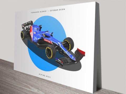 Alpine F1 Wall Art Great Gift Ideas Online