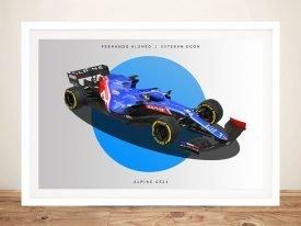 Alpine F1 Motorcar Framed Wall Art
