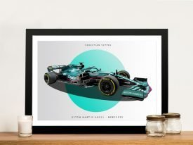 Framed 2021 Aston Martin F1 Car Print
