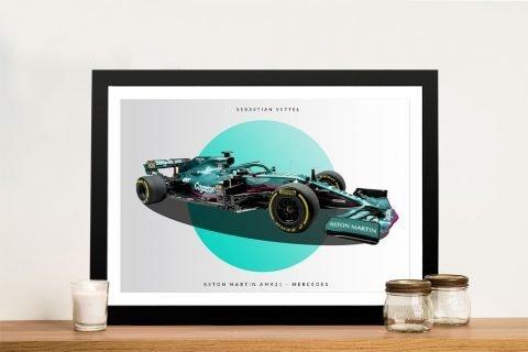 Framed 2021 Aston Martin F1 Car Print