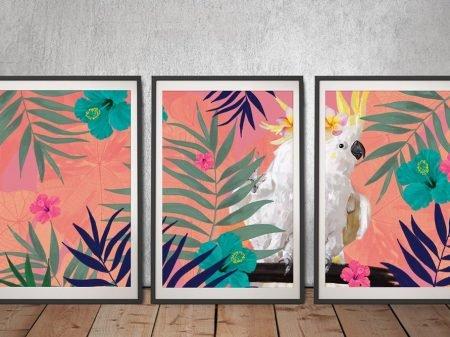 Botanical Fern Cocky Split Panel Artwork