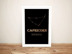 Capricorn Framed Star Sign Art on Canvas