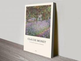 Irises in Monet's Garden Composition Artwork