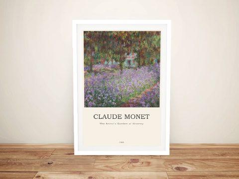 Framed Classic Monet Art Composition for Sale