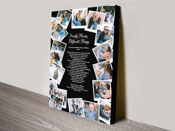 Photo Collage Design on Canvas Gift Ideas AU