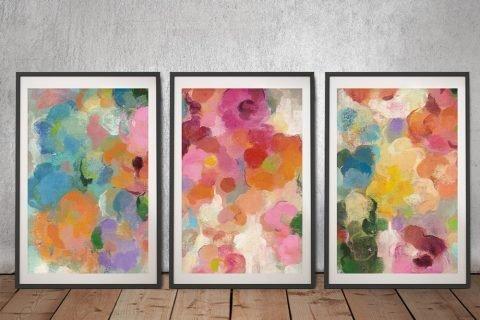 Colourful Garden 3-Piece Ready to Hang Art