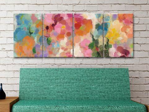 Colourful Garden Ready to Hang 4-Panel Art Set