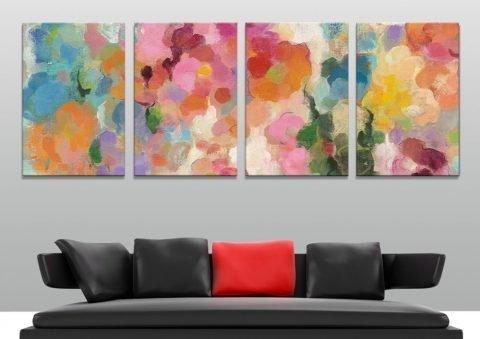 Silvia Vassileva Colourful Abstract Split Panel Art