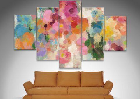 Colourful Garden Split Diamond Wall Art