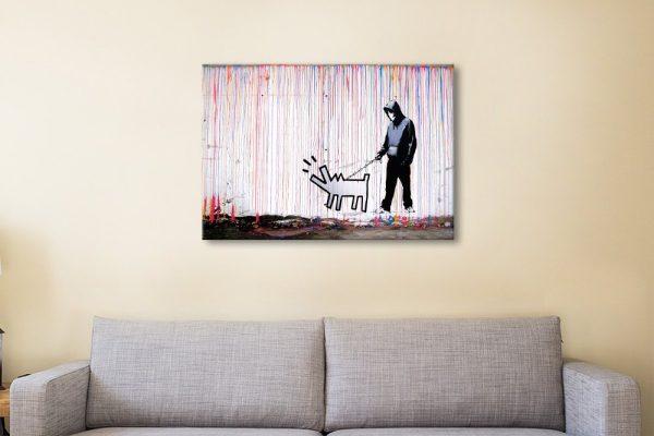 Dog Man Ready to Hang Graffiti Artwork AU
