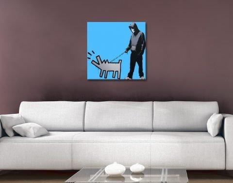 Dog Man Ready to Hang Artwork Cheap Online