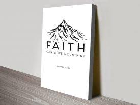 Faith Christian Art Print on Canvas