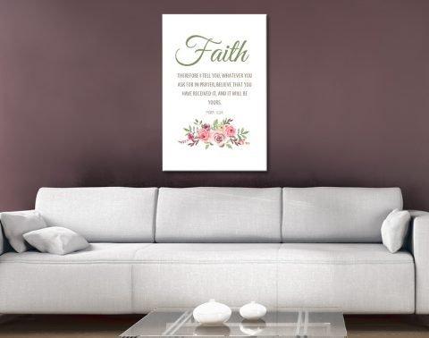 Faith Floral Christian Art Gallery Sale Online