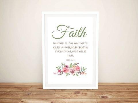 Faith Framed Floral Christian Wall Art