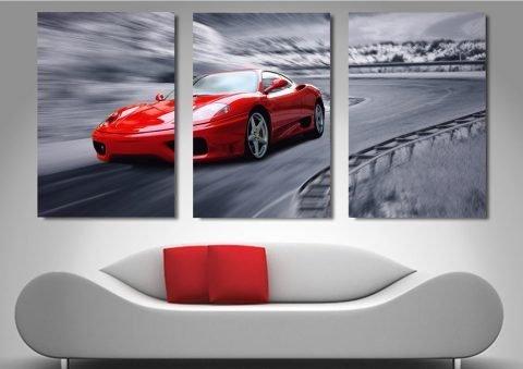 Ready to Hang Ferrari Split Panel Art Online