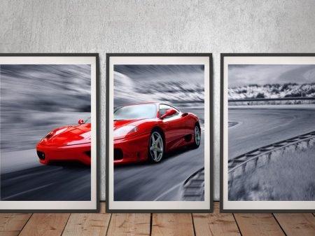 Ferrari F430 Framed Triptych Wall Art