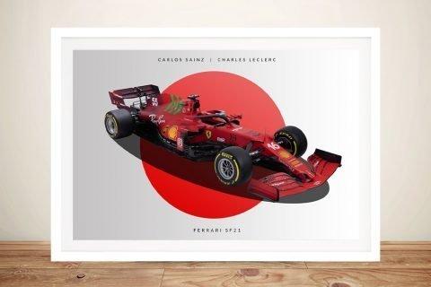 Framed Ferrari Formula 1 Wall Art for Sale AU