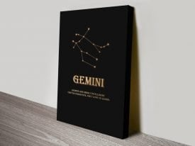 Gemini Star Sign Motivational Artwork