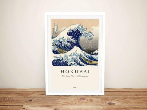 Framed Hokusai Japanese Art Gift Ideas AU