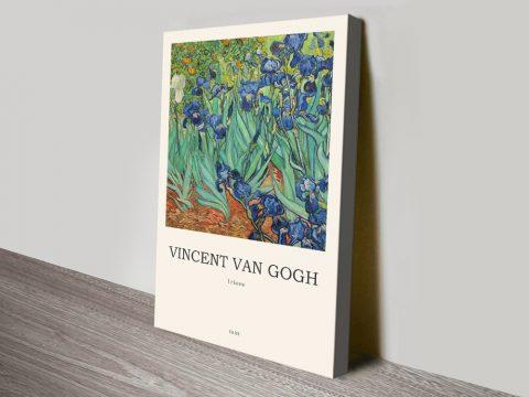 Irises Stretched Canvas Composition Online
