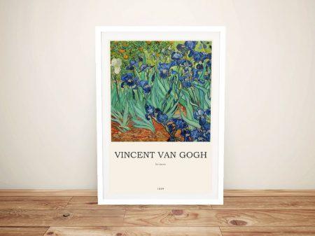 Irises Framed Van Gogh Modern Composition