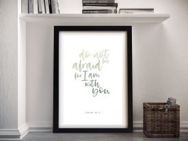 Isaiah Bible Quote Framed Print on Canvas