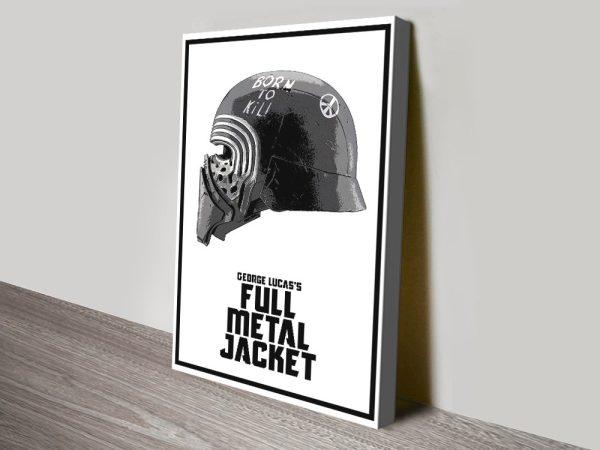 Kylo Ren Helmet Star Wars Wall Art