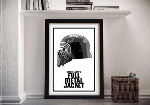 Buy a Framed Kylo Ren Helmet Canvas Print