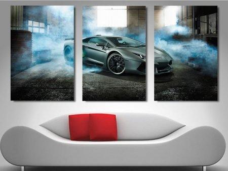 Lamborghini Automotive Split Panel Artwork