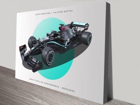Mercedes F1 Stretched Canvas Art Print