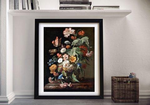 Still Life with Flowers by Rachel Ruysch Framed print