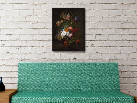Rachel Ruysch Vase with Flowers Painting Print