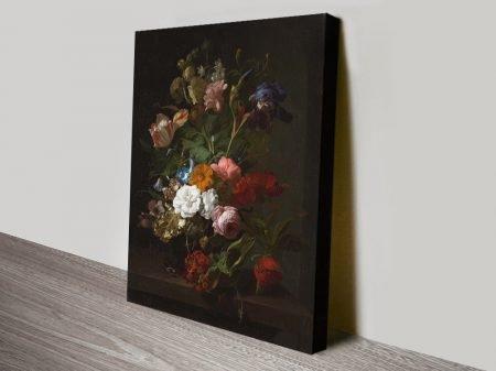 Rachel Ruysch Vase with Flowers Canvas Print