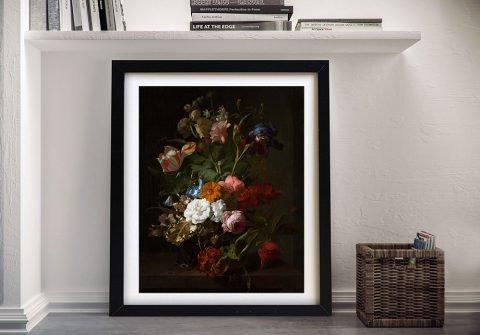 Rachel Ruysch Vase with Flowers Framed Print