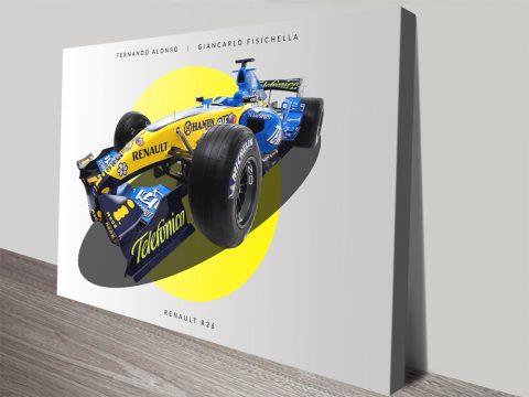 Renault F1 2006 Car Print on Canvas Online