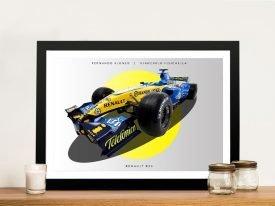 Renault R26 Formula 1 Framed Wall Art